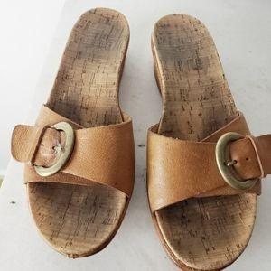 Kork-Ease Minka Brown Leather Slide